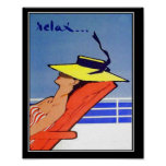 Entspannen Sie sich Vintages Plakat der Reise