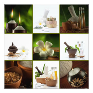 Entspannende Meditations-Collage Fotodruck