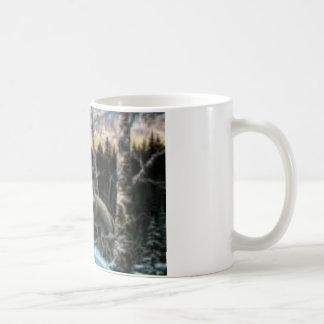 Entspannende Wölfe Kaffeetasse
