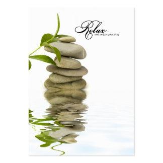 Entspannende Zen-Visitenkarte-Schablone Jumbo-Visitenkarten