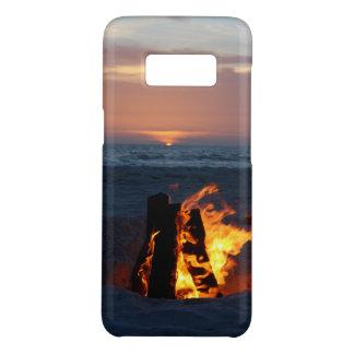 Entspannender Strand-Sonnenuntergang mit Feuer Case-Mate Samsung Galaxy S8 Hülle