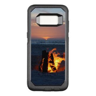 Entspannender Strand-Sonnenuntergang mit Feuer OtterBox Commuter Samsung Galaxy S8 Hülle