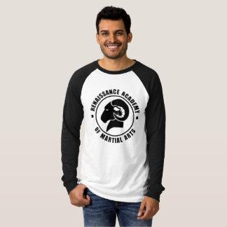 Entspannter Sitz-langes Hülse T-Shirt