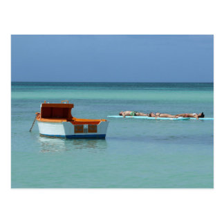 Entspannung an der Seepostkarte Postkarte