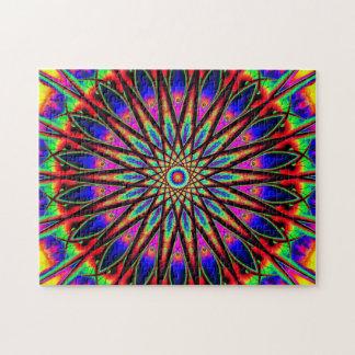 Entspannung der Regenbogen-Stern-Mandala-| Puzzle