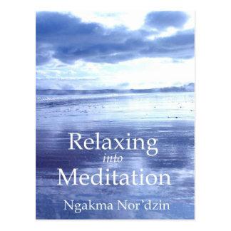 Entspannung in Meditations-Werbung 01 [Postkarte] Postkarte