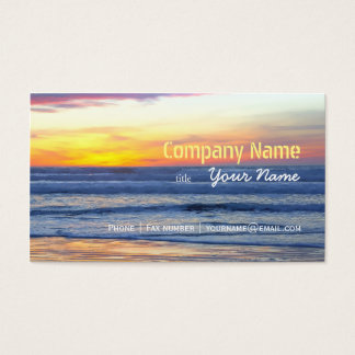 Entspannungs-Strand-elegante Visitenkarte