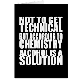 Entsprechend Chemie ist Alkohol eine Lösung Karte