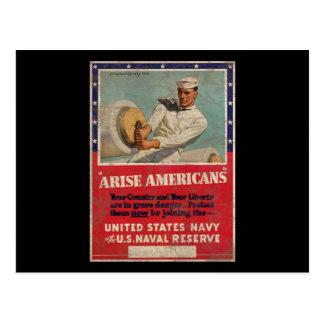 Entstehen Amerikaner-Staat-Marine Postkarte