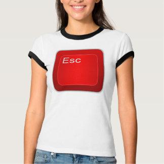 Entweichen-Computer-Knopf-Shirt T-Shirt