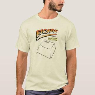 Entweichen vom Computer-Tastatur-Shirt T-Shirt