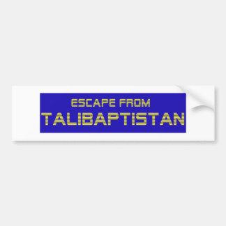 Entweichen von Talibaptistan Gelb Autoaufkleber