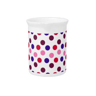 Entwerfen Sie einfache runde Kreis Art-Mode-Punkte Getränke Pitcher