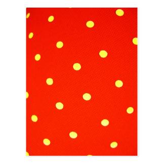 Entwerfen Sie einfache runde Kreis Art-Mode-Punkte Postkarte