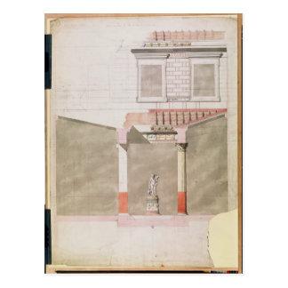 Entwerfen Sie für das Atrium des Pompeiian Postkarte