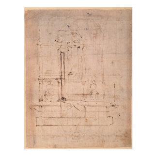 Entwerfen Sie für das Grab von Papst Julius II Postkarte