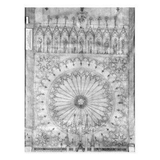 Entwerfen Sie für das Rosenfenster und die Galerie Postkarte