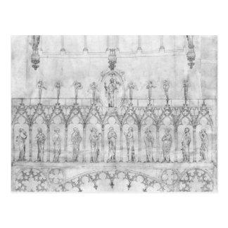 Entwerfen Sie für die Galerie von Königen auf dem Postkarte