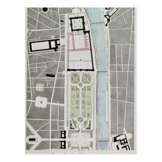 Entwerfen Sie für die Verbindung des Tuileries zum Postkarte