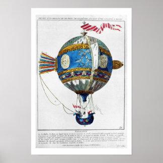 Entwerfen Sie für einen Heißluftballon mit einem D Plakat