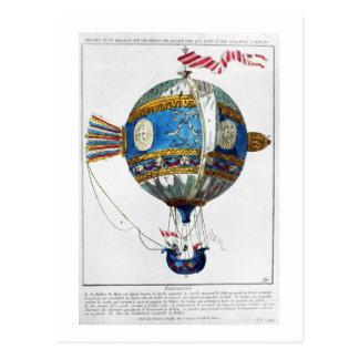 Entwerfen Sie für einen Heißluftballon mit einem Postkarten