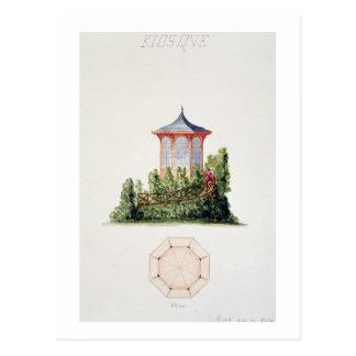Entwerfen Sie für einen Pavillon in vereinfachter Postkarte