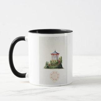 Entwerfen Sie für einen Pavillon in vereinfachter Tasse