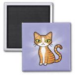 Entwerfen Sie Ihre eigene Cartoon-Katze Magnets