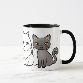 Entwerfen Sie Ihre eigene Cartoon-Katze Tasse