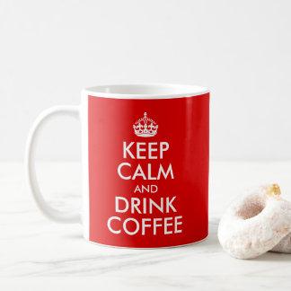 Entwerfen Sie Ihre Selbst behalten Ruhe und Kaffeetasse