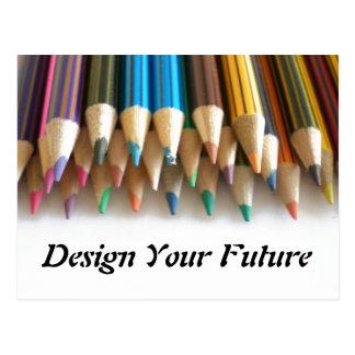 Entwerfen Sie Ihre Zukunft Postkarte