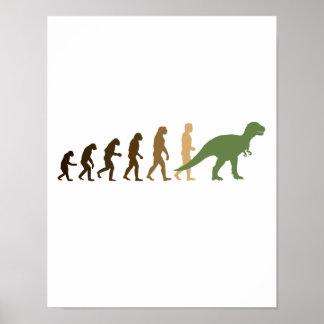 Entwickeln zurück zu Dinosauriern -- - Poster