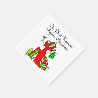 Entwirren Sie nicht sich vor Weihnachten - Papierservietten
