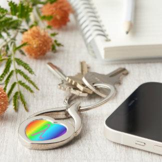 entworfener Metallherzschlüsselring Schlüsselanhänger