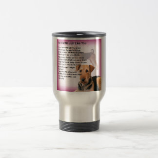 Entwurf Airedales Terrier - Tantengedicht Reisebecher