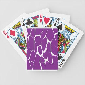 Entwurf blockiert lila Kuh Bicycle Spielkarten