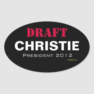 ENTWURF Christie 2012 Oval-Aufkleber