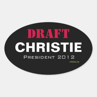 ENTWURF Christie 2012 Oval-Aufkleber Ovaler Aufkleber