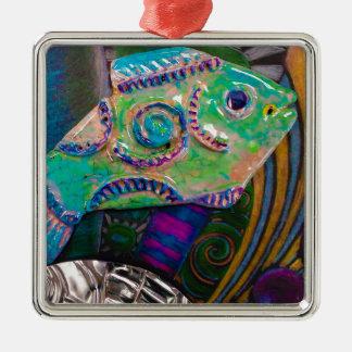 Entwurf der Fische PSX_20161221_181703 Silbernes Ornament