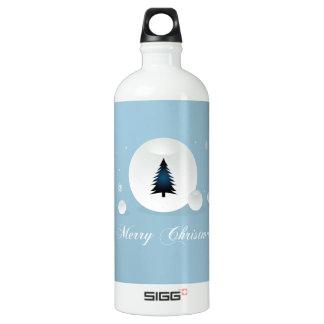 Entwurf der frohen Weihnachten Aluminiumwasserflasche