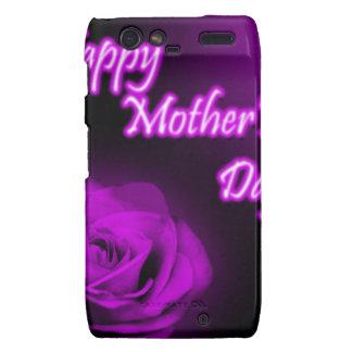 Entwurf der lila Rosen-glücklicher Mutter Tages Motorola Droid RAZR Hülle