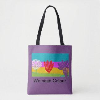 Entwurf der Taschentasche. .colourful Tasche