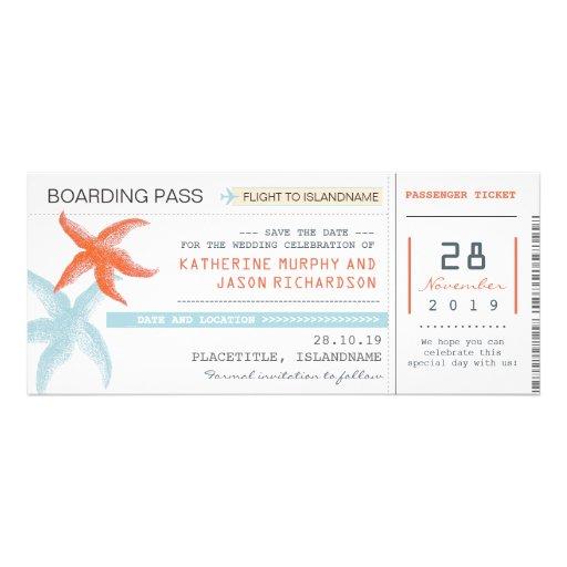Entwurf des Flugticket-Boarding-Durchlaufs Save Individuelle Einladung