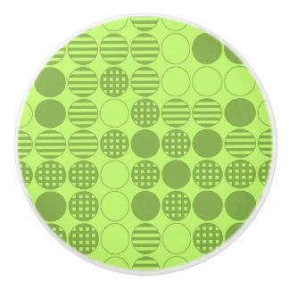 Entwurf des Grün-vier in Folge - Fach-Griff Keramikknauf