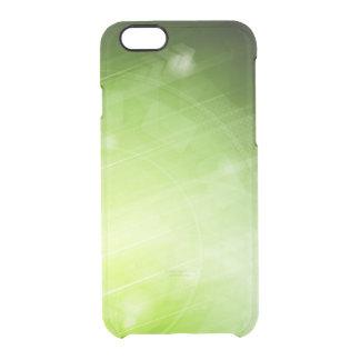 Entwurf des grünen Lichtes in der High-Techen Art Durchsichtige iPhone 6/6S Hülle