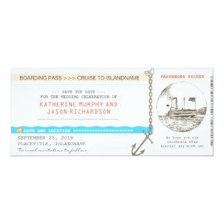 Entwurf des Kreuzfahrt-Boarding-Durchlaufs Save 10,2 X 23,5 Cm Einladungskarte