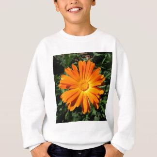 Entwurf des orange Gänseblümchens kundengerecht Sweatshirt