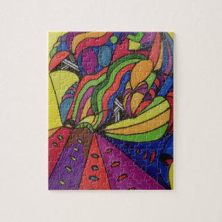 Entwurf des Puzzlespiels w/abstract des Foto-8x10 Puzzle