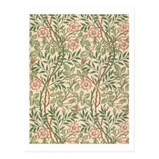 """Entwurf """"des süßen Briar"""" für Tapete, gedruckt von Postkarte"""