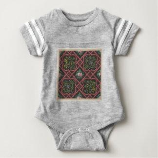 Entwurf für die Tapete, die Blumen und Gitter Baby Strampler